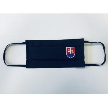 Bavlnené rúško čierne so slovenským znakom