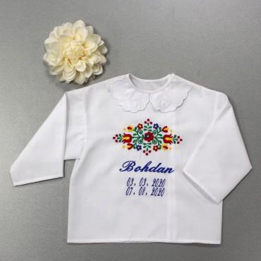 Krstová košieľka - chlapčenská: Folklórny vzor