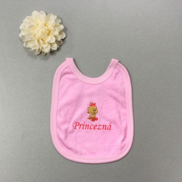 Detský podbradník ružový- Princezná + dievčatko