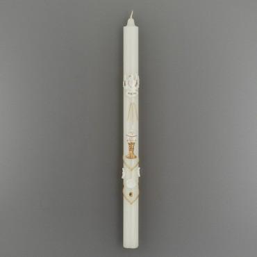 Krstová sviečka zlatá: biela