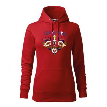 Folklórna dámska mikina - červená