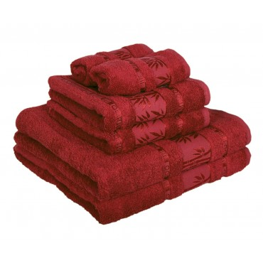 Ajoss Bambusový uterák bordový 100x50cm