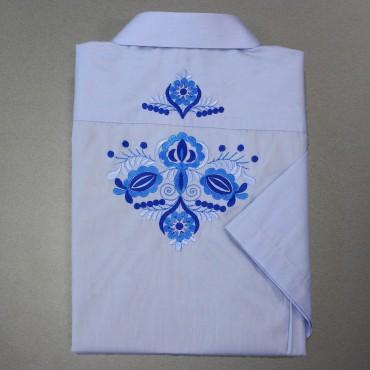 Pánska folklórna košeľa vyšívaná
