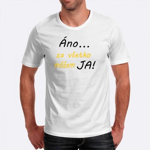 Pánske humorné tričko s výšivkou: Áno... Za všetko môžem JA!