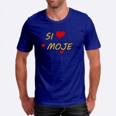 Pánske humorné tričko s výšivkou  Si moje + srdce dd44679ceb