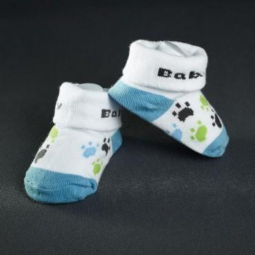 Dojčenské papučky: bielo - modré