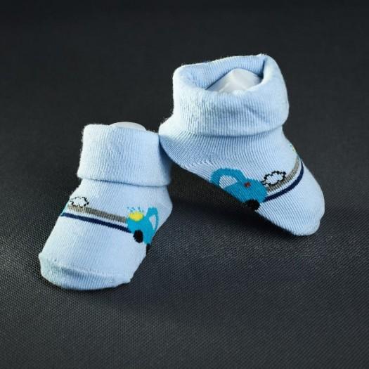 Dojčenské papučky: bledo - modré