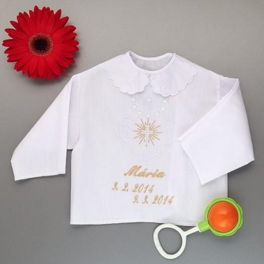Krstová košieľka - dievčenská: Kríž so žiarou