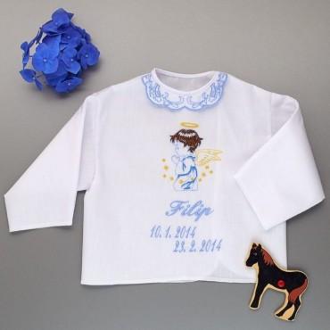 Krstová košieľka - chlapčenská: Anjelik