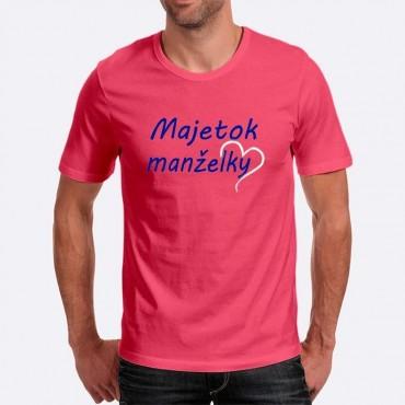 Pánske humorné tričko s výšivkou  Majetok manželky + polsrdce 9b82748f61