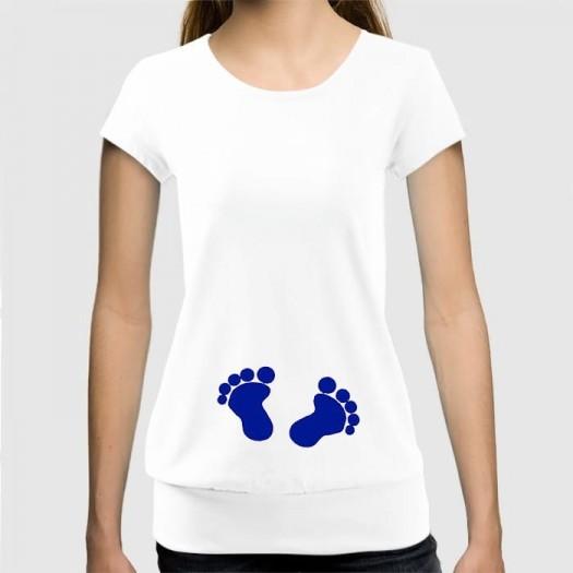 Dámske humorné tričko so spodným lémom s výšivkou: Nožičky
