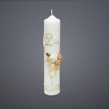 Svadobná sviečka - ružičky farebné