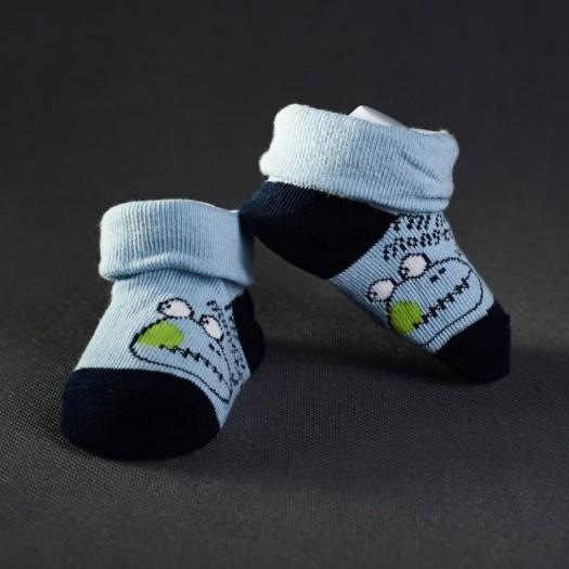 Dojčenské papučky: bledo - modré s tmavo - modrou