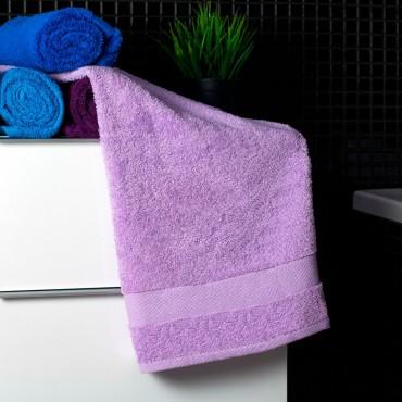 Ajoss Bavlnený uterák svetlo-fialovej farby 100x50cm
