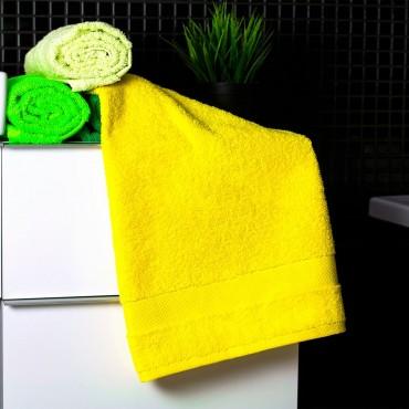 Ajoss Bavlnený uterák žltej farby 100x50cm