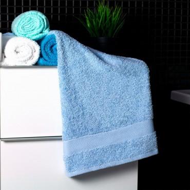 Ajoss Bavlnený uterák svetlo modrej farby 100x50cm