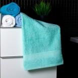 Bavlnený uterák bledo-modrej