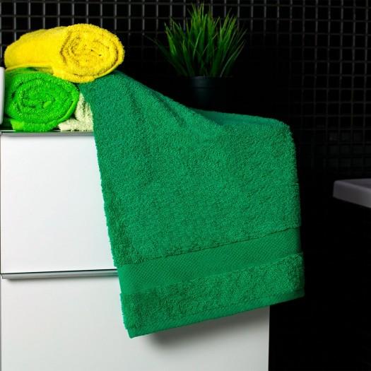Bavlnený uterák tmavo-zelenej farby