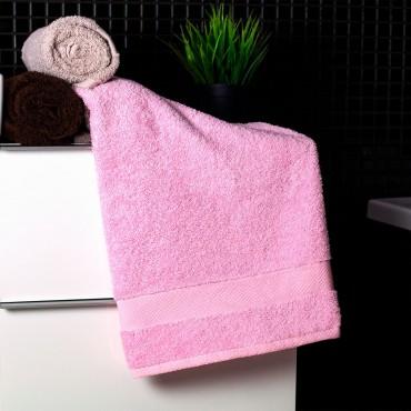 Ajoss Bavlnený uterák svetlo-ružovej farby 100x50cm