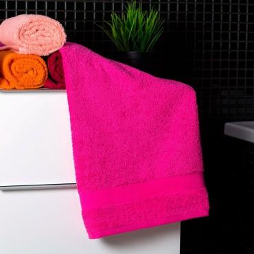 Ajoss Bavlnený uterák cyklaménovej farby 100x50cm