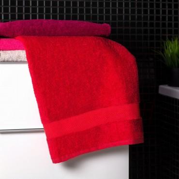 Ajoss Bavlnená osuška červenej farby 140x70cm