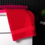 Bavlnená osuška červenej farby
