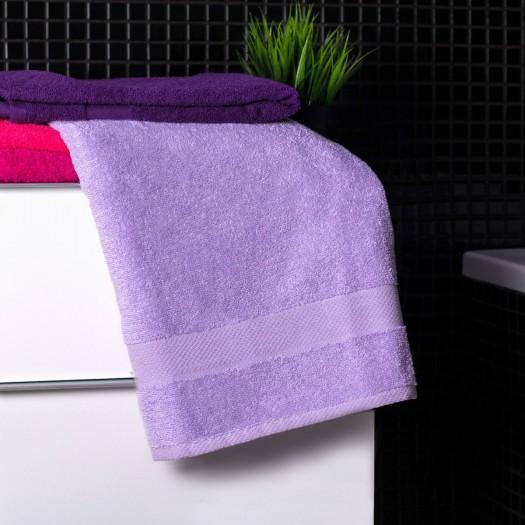 Bavlnená osuška svetlo-fialovej farby