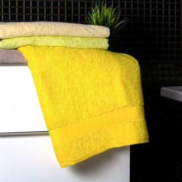 Ajoss Bavlnená osuška žltej farby 140x70cm