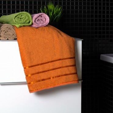 Ajoss Bambusový uterák oranžový 100x50cm