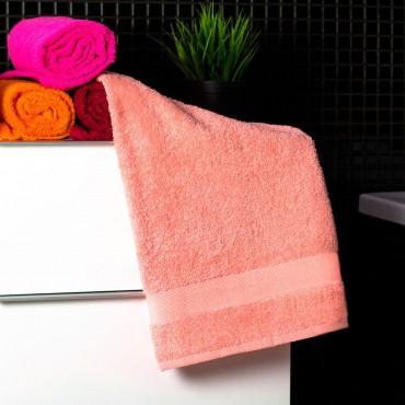 Ajoss Bavlnený uterák svetlo-lososovej farby 100x50cm