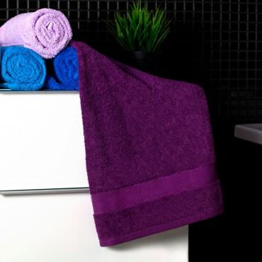 Ajoss Bavlnený uterák tmavo-fialovej farby 100x50cm