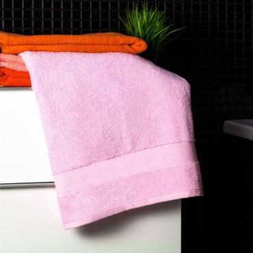 Ajoss Bavlnená osuška svetlo-ružovej farby 140x70cm
