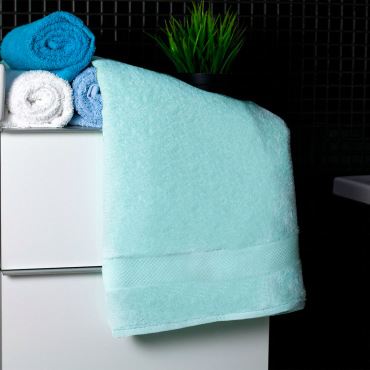 Ajoss Bavlnený uterák svetlo tyrkysovej farby 100x50cm