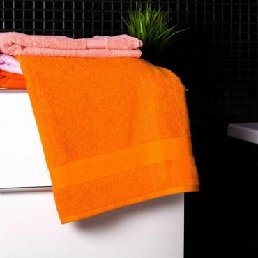 Ajoss Bavlnená osuška pastelovo-oranžovej farby 140x70cm