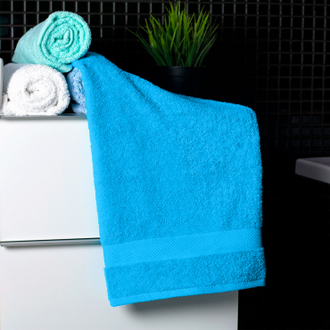 Ajoss Bavlnený uterák pastelovo-modrej farby 100x50cm