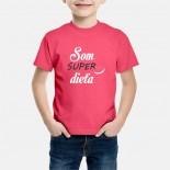 Detské humorné tričko s výšivkou: Som SUPER dieťa + smajlík