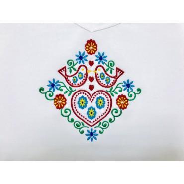 Folklórne tričko dlhý rukáv s výšivkou č.7