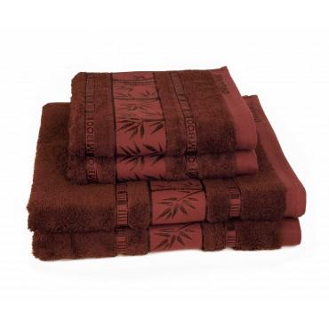 Ajoss Bambusový uterák hnedý 100x50cm
