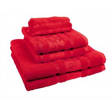 Ajoss Bambusový uterák červený 100x50cm