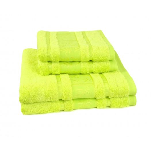 Bambusový uterák zelený
