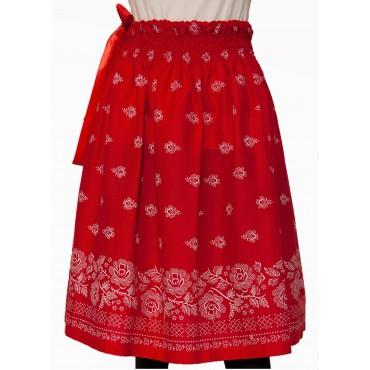 Folklórna sukňa veľká- červená