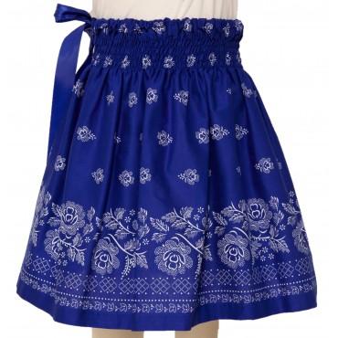 Folklórna sukňa stredná- modrá