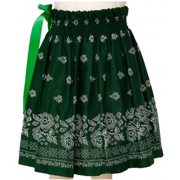 Folklórna sukňa stredná- zelená