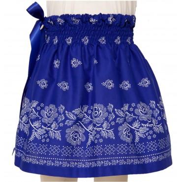 Folklórna sukňa malá- modrá