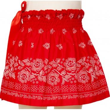 Folklórna sukňa malá- červená