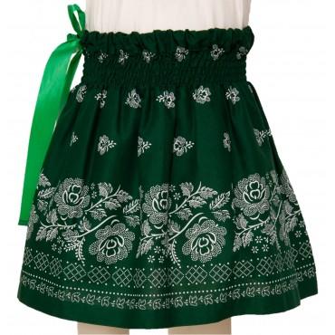 Folklórna sukňa malá- zelená
